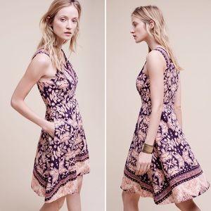 Anthropologie Maeve Paisley Print Midi Dress